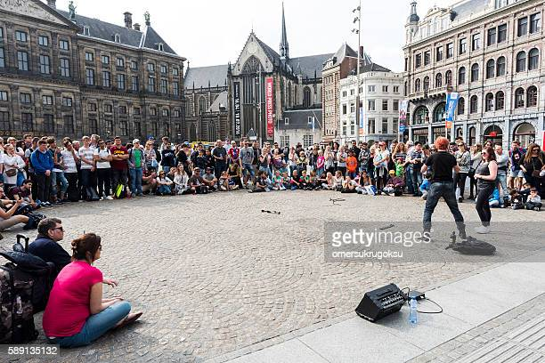Show in Dam Square, Amsterdam, Netherlands