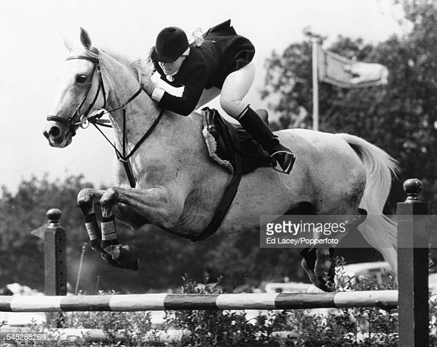 Show jumper Anne Moore riding 'April Love' at the Wills Castella Stakes Hickstead August 13th 1970