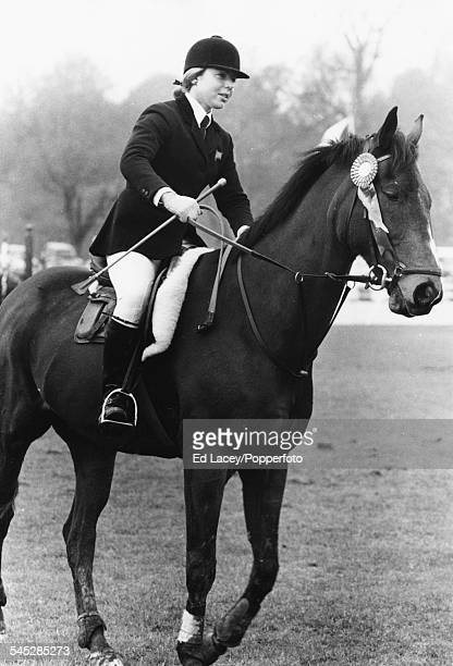 Show jumper Anne Moore riding 'Psalm' at Hickstead April 9th 1971