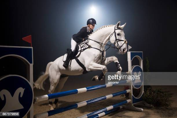 show jumping - racehorse stock pictures, royalty-free photos & images