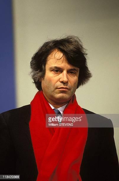 Show 'L'heure De Verite' Economistauthor Alain Minc On December 29th 1991 In Paris France