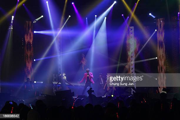 Show Lo from Taiwan perform on stage during Youtube Music Awards 2013 at Kintex Hall on November 3, 2013 in Seoul, South Korea.