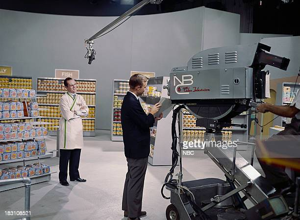 SHOW Show No 6 Episode 106 Pictured Host Bob Newhart during a modern supermarket sketch