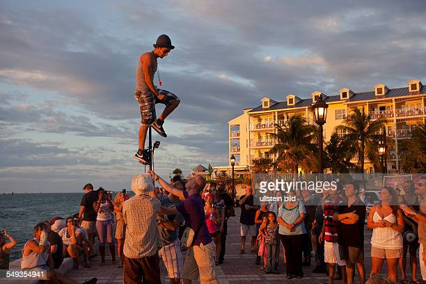 Show on Mallory Square in Key West Florida Keys Florida USA