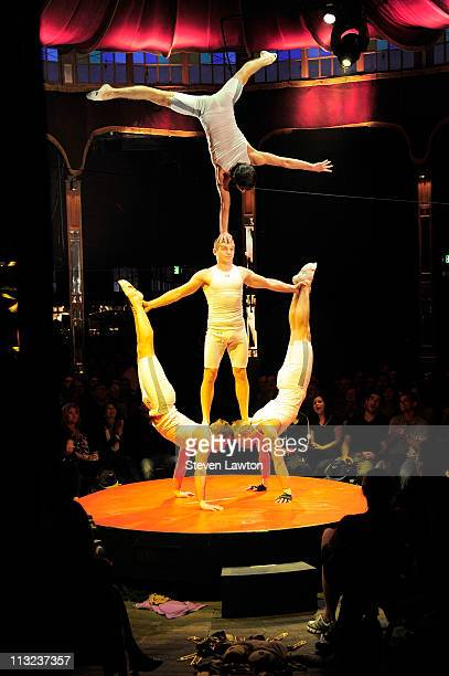 Show performers during the new show 'Absinthe' at Caesars Palace on April 27 2011 in Las Vegas Nevada