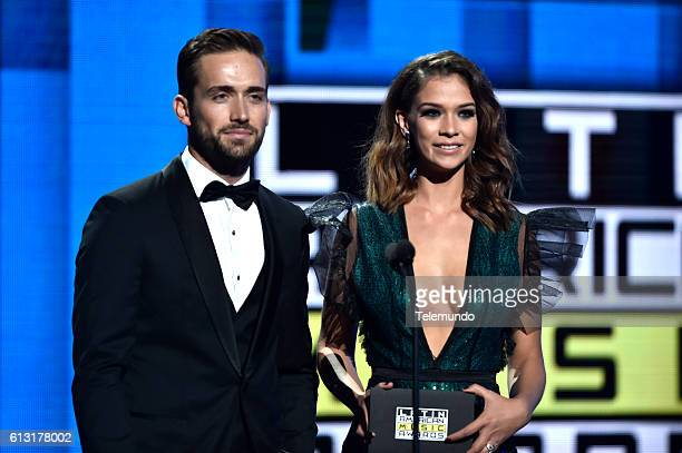 AWARDS Show Pictured Actor Mauricio Henao and actress Carolina Miranda on stage during the 2016 Latin American Music Awards at the Dolby Theater in...