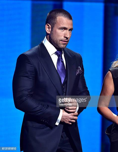 AWARDS 'Show' Pictured Actor Rafael Amaya speaks on stage during the 2016 Latin American Music Awards at the Dolby Theater in Los Angeles CA on...