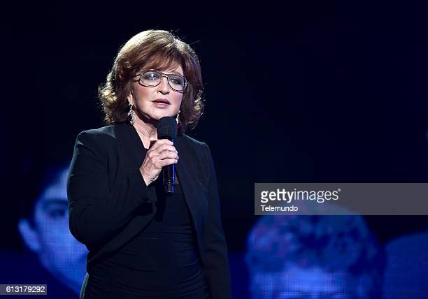 AWARDS 'Show' Pictured Actress Angelica Maria speaks on stage during the 2016 Latin American Music Awards at the Dolby Theater in Los Angeles CA on...