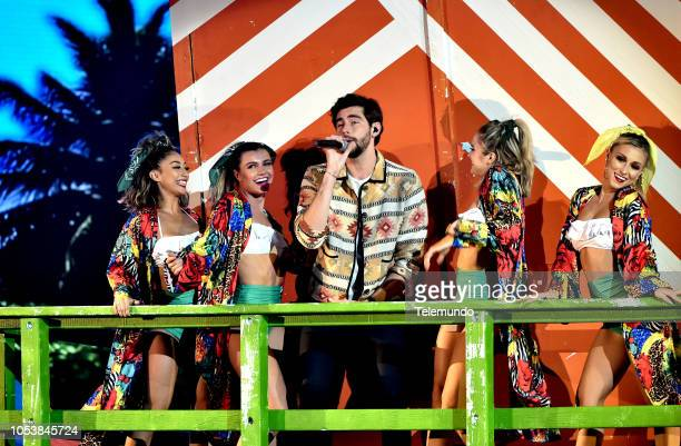AWARDS 'Show' Pictured Alvaro Soler at the Dolby Theatre in Hollywood CA on October 25 2018