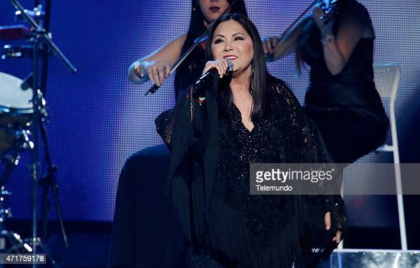 Ana Gabriel on stage during the 2015 Billboard Latin Music Awards from Miami Florida at the BankUnited Center University of Miami on April 30 2015...