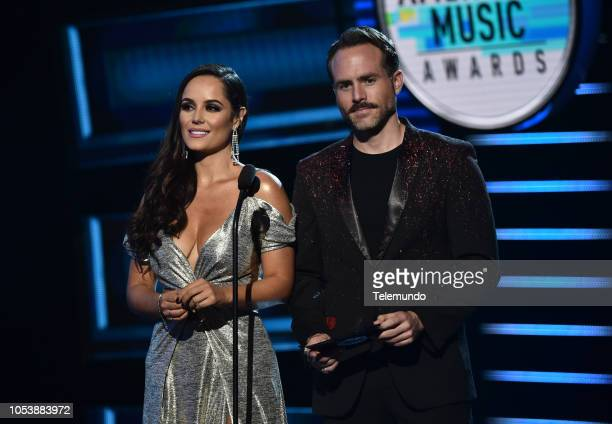 AWARDS 'Show' Pictured Ana Lucia Dominguez and Erik Hayser at the Dolby Theatre in Hollywood CA on October 25 2018