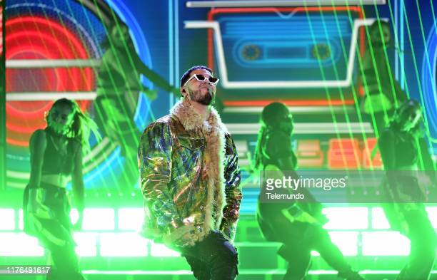 AWARDS Show Pictured Anuel AA performs at the Dolby Theatre in Hollywood CA on October 17 2019