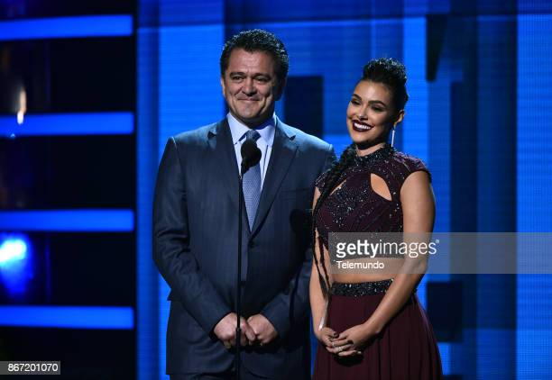 AWARDS 'Show' Pictured Carlos Hermosillo Annabelle Acosta at the Dolby Theatre in Hollywood CA on October 26 2017
