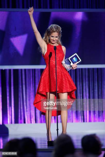 MUNDO 2017 'Show' Pictured Carmen Aub on stage during the 2017 Premios Tu Mundo at the American Airlines Arena in Miami Florida on August 24 2017