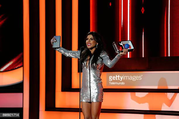 "Show"" -- Pictured: Carolina Gaitan on stage during the 2016 Premios Tu Mundo at the American Airlines Arena in Miami, Florida on August 25, 2016 --"