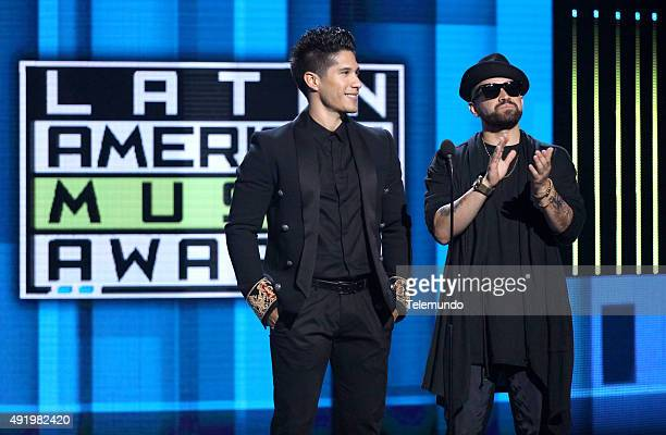 Chino and Nacho on stage during the 2015 Latin American Music Awards at The Dolby Theater in Hollywood CA on October 8 2015 LATIN AMERICAN MUSIC...