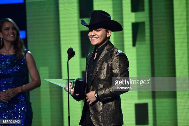 AWARDS Show Pictured Christian Nodal Cancion Favorita Regional Mexicano at the Dolby Theatre in Hollywood CA on October 26 2017