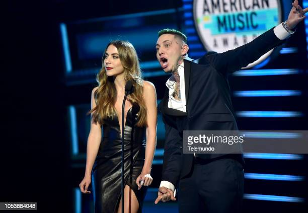 AWARDS Show Pictured Claudia Vergara and Lary Over at the Dolby Theatre in Hollywood CA on October 25 2018