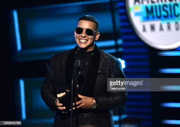AWARDS Show Pictured Daddy Yankee accepts the Artista Favorito Masculino award at the Dolby Theatre in Hollywood CA on October 25 2018