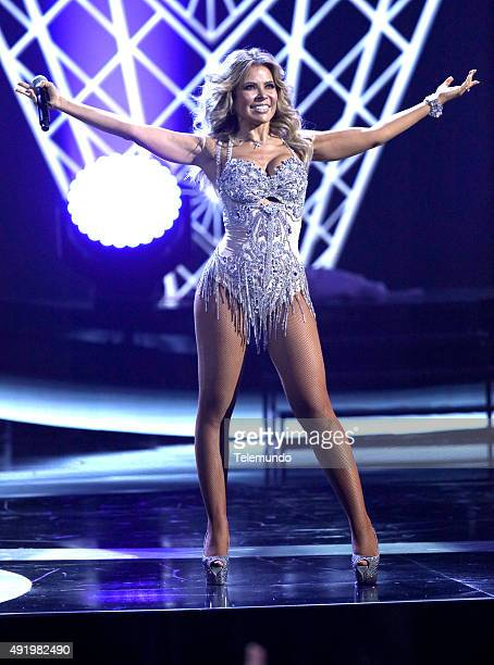 Gloria Trevi on stage during the 2015 Latin American Music Awards at The Dolby Theater in Hollywood CA on October 8 2015 LATIN AMERICAN MUSIC AWARDS...