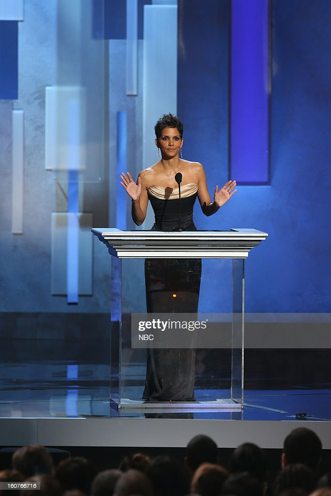 Halle Berry presents on stage at The Shrine Auditorium, February 1, 2013 --