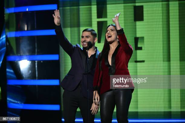 AWARDS 'Show' Pictured Larry Hernandez Ana Lorena Sanchez at the Dolby Theatre in Hollywood CA on October 26 2017