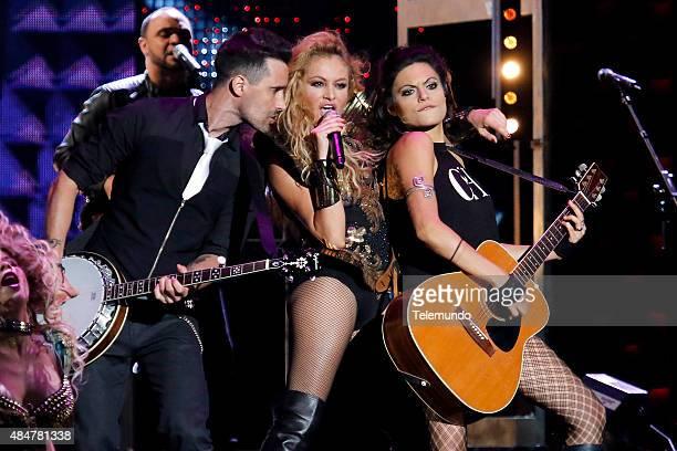 Paulina Rubio on stage during the 2015 Premios Tu Mundo at the American Airlines Arena in Miami Florida on August 20 2015 PREMIOS TU MUNDO 2015...