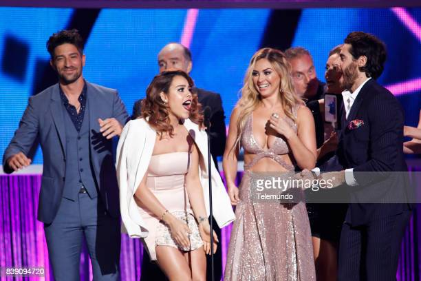 MUNDO 2017 'Show' Pictured The cast of La Doña on stage during the 2017 Premios Tu Mundo at the American Airlines Arena in Miami Florida on August 24...