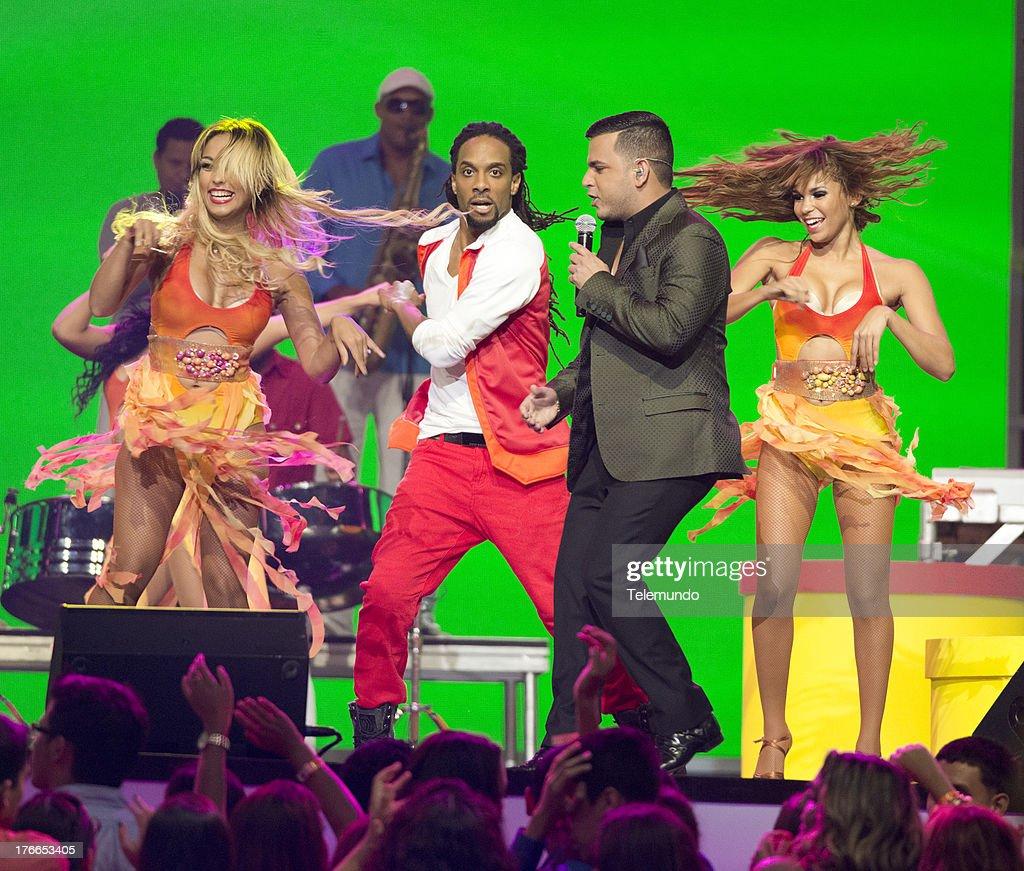 Tito el Bambino on stage during the 2013 Premios Tu Mundo from the American Airlines Arena in Miami, Florida, August 15, 2013 -- (Photo by: Gary I Rothstein/Telemundo) ..PREMIOS TU MUNDO 2013 -- Programa -- Imagen: Tito el Bambino en el escenario de los Premios Tu Mundo 2013 desde el American Airlines Arena en Miami, Florida, 15 de Agosto, 2013 --