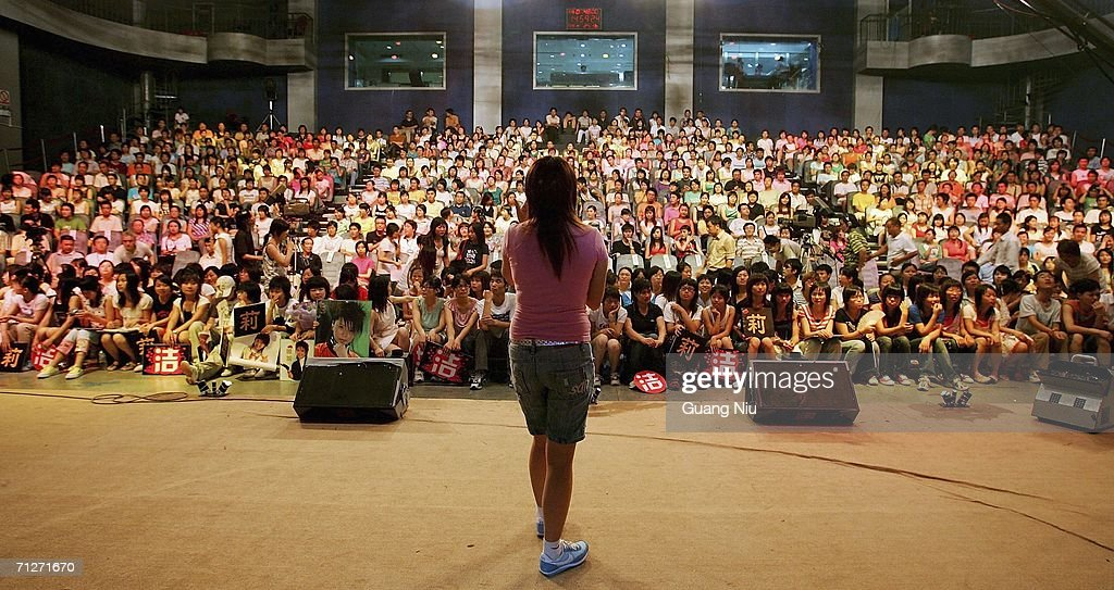 Talent Show 'Super Girl Voice' Is Filmed In Changsha : News Photo
