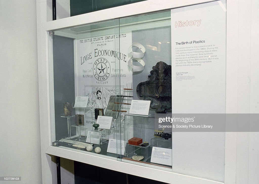 Showcase looking at the birth of plastics. 1985-95. : News Photo
