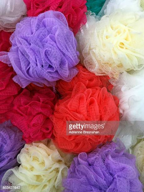 Shower Puffs in Many Colors