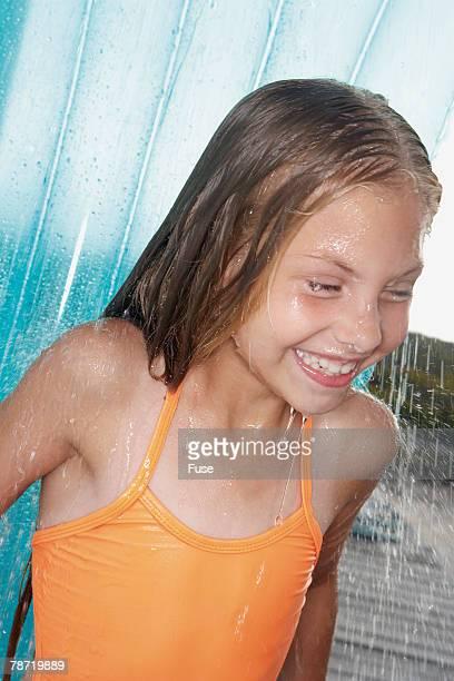 Showering off