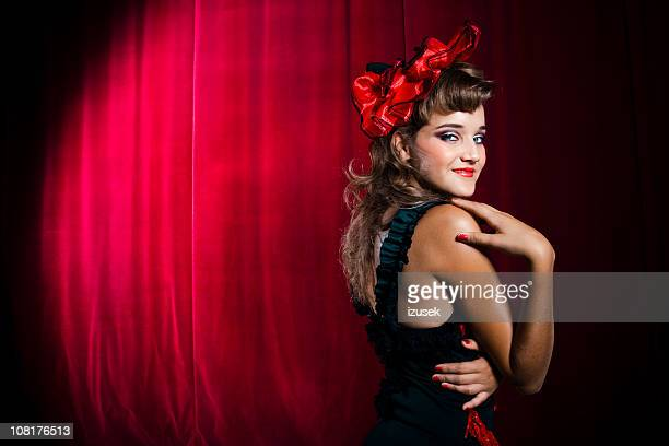 Showgirl Acting Coy on Stage