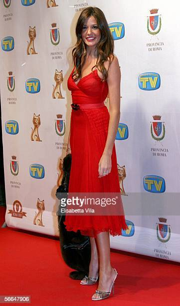 Showgirl Alessia Fabiani attends the TV, Sport, Cinema And Music Italian Awards at the Auditorium on January 22, 2006 in Rome, Italy.