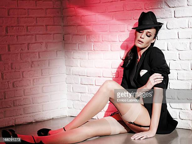 Showgirl Alessia Fabiani is photographed for Maxim Magazine Italy on February 20 2008 in Milan Italy