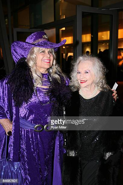 Showgirl Gloria Pall and Minsky's burlesque dancer Dixie Evans pose during the arrivals for the world premiere of Minsky's held at CTG/Ahmanson...