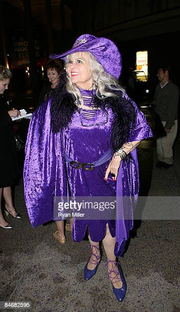 Showgirl Gloria Pall poses during the arrivals for the world premiere of Minsky's held at CTG/Ahmanson Theatre on February 6 2009 in Los Angeles...