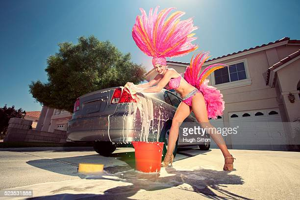 showgirl washing car - hugh sitton stock pictures, royalty-free photos & images