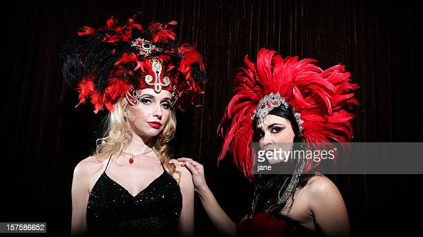 showgirls - cabaret stock photos and pictures