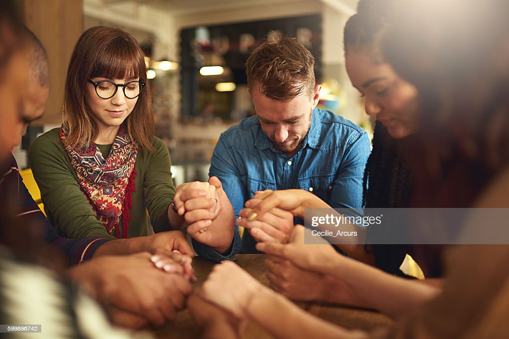 Showing a supportive spirit : Stock Photo