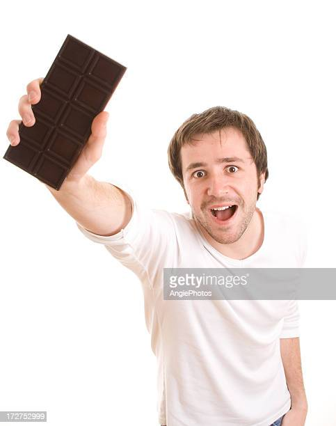 Showing chocolate
