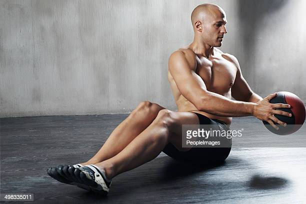 Showing great technique to strengthen his back