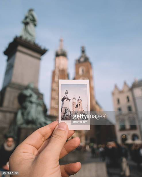 Showing instant photo of Poland