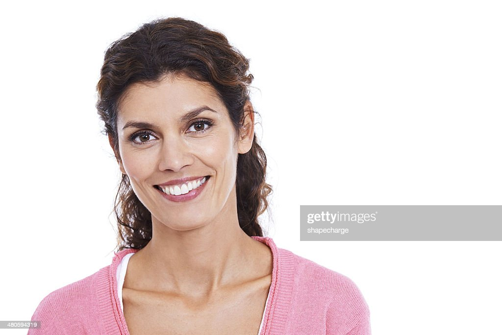 Showing off her pearly whites : Stock Photo