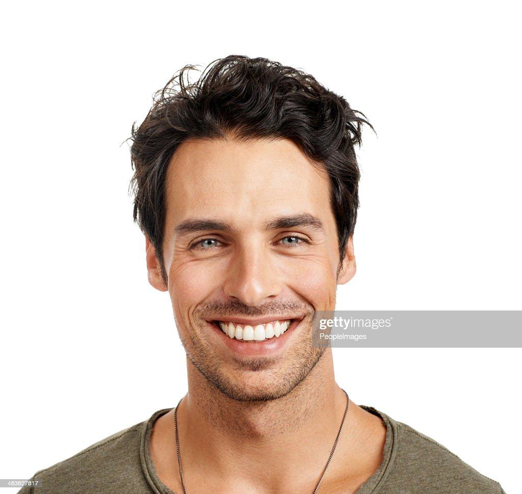 Alardear su los dientes. : Foto de stock
