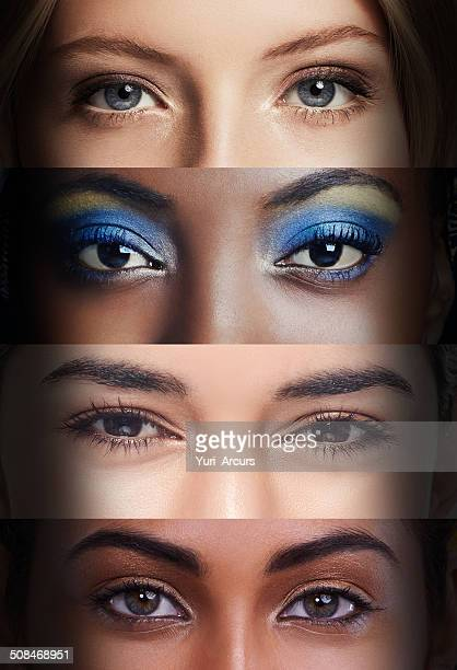 showing their soul - eye make up stock photos and pictures