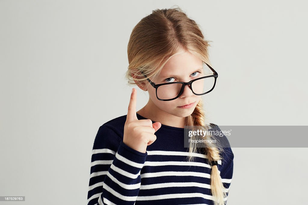 Showing you she's the boss! : Stock Photo