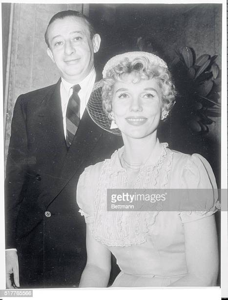 Showman Billy Rose and his bride the former Joyce Mathews are shown smiling togather after their marriage at a 1 west 81st Apartment today Joyce has...