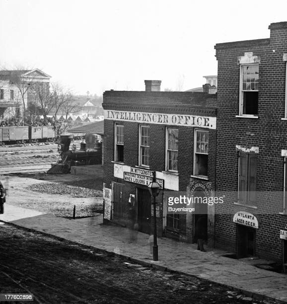 Shown here the Intelligencer office by the railroad depot Atlanta Georgia 1864 The Daily Intelligencer was first published on June 1 1849 as the...